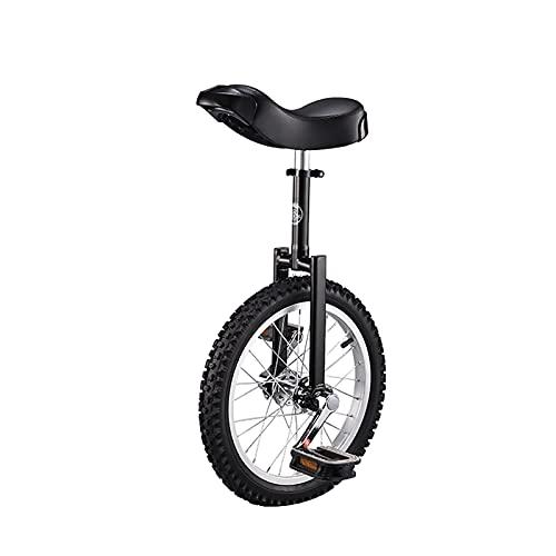YYLL Monociclos 20'Kid's/Entrenador de Adultos Unicycle Altura Ajustable Unicycycle Professional with Unicycle Stand, 4 Colores Disponibles (Color : Black, Size : 20 Inch)
