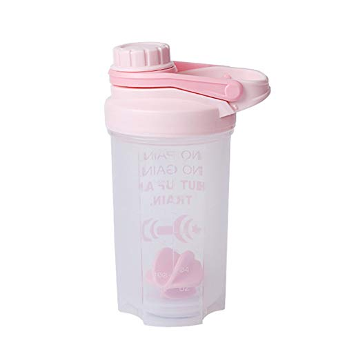 LSGMC Classic Protein Shaker Bottle, Leak Proof, Perfect Gym Fitness Gift, 500ml,Pink
