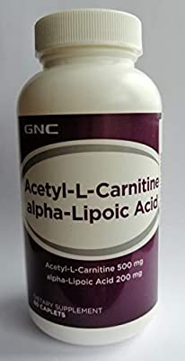 GNC Acetyl L-Carnitine + Alpha-Lipoic Acid - 60 caps.Supporting and Protecting The Functioning of The Brain; It Helps to Burn Excess Fat.