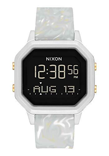 NIXON Siren SS A1211-100 metros / 10 ATM resistente al agua reloj deportivo digital para mujer (esfera de reloj de 36 mm, banda de 18 mm a 16 mm)