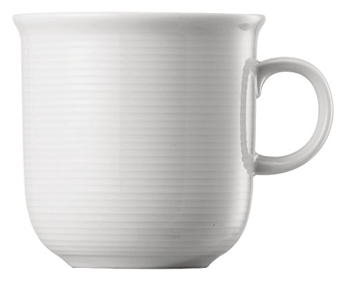 Thomas Trend Weiß - 6 x Becher mit Henkel 0,28 l - 11400-800001-15503 - Henkelbecher Mugge Humpen