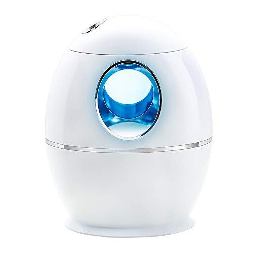 Humidificador USB, humidificador portátil, mini humidificador silencioso, apagado automático y luz de 7 colores, 800 ml, adecuado para el hogar/oficina de escritorio/viajes