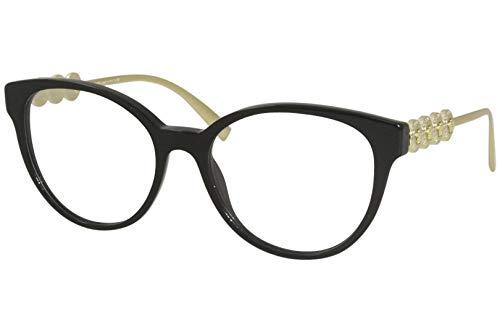 Versace VE-3278 GB1 - Gafas de sol de acetato (metal negro brillante), color dorado