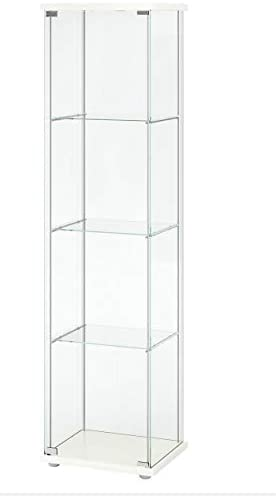 Ikea Detolf Glass Curio Display Cabinet White
