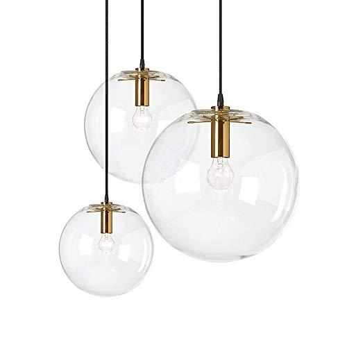 MZStech Lámpara de Cristal Colgante de Cristal LED esfé
