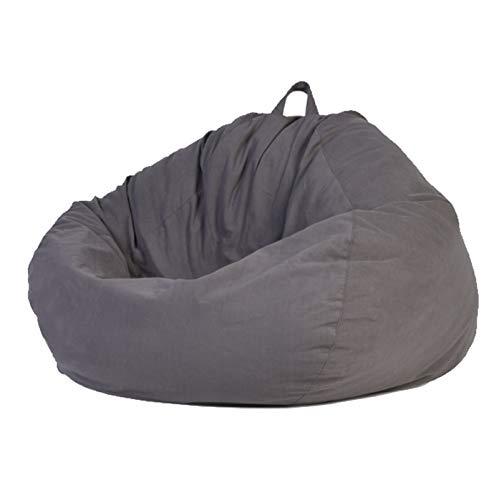 WXFN Lazy Lounger Sofabezug 100% Polyesterfaser Ohne Füllung Mit Reißverschluss Und Tragegriff Geeignet Für Erwachsene,Cement Gray,XL