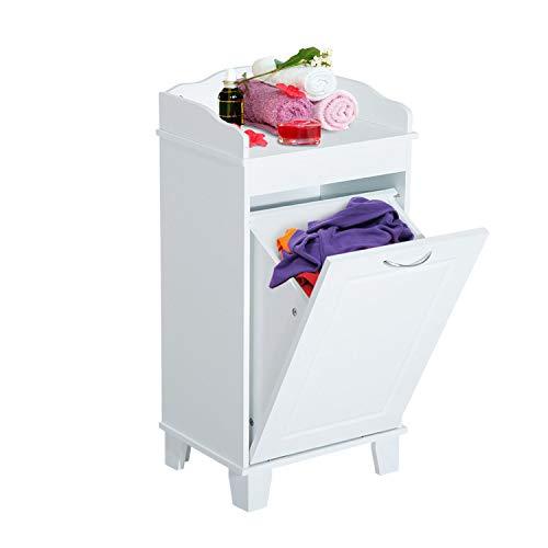 Cesta para ropa sucia de madera avatible blanco