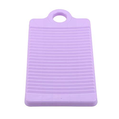 LGJJJ Haushaltswaschtisch Kunststoff Antiskid Mini Waschbrett Verdickung Kleine Handwaschtisch Badezimmer Reinigungswerkzeug,lila