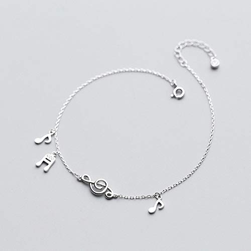DGFGCS Ladies silver bracelet 925 Sterling Silver Charm Anklets For Women Barefoot Leg Chain Ankle Foot Bracelet Girls Lady Summer Jewelry