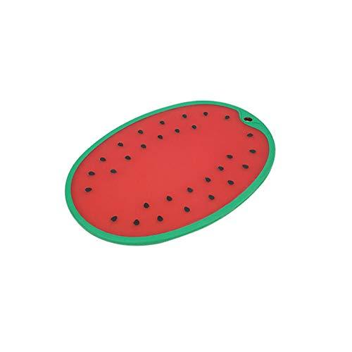 Nonebranded Tablas de Cortar Tabla de Cortar de plástico Tipo sandía para Vegetales Fruta Antideslizante Estera de Corte Carne Tabla de Cortar Cocina Cocina Accesorios