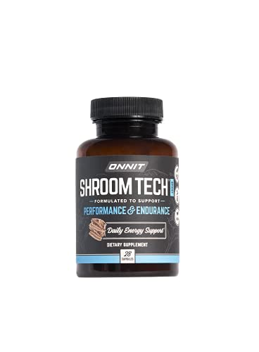 Onnit Shroom TECH Sport (28ct)   All Natural Pre-Workout Supplement with Ashwagandha, Cordyceps Mushroom, and Rhodiola Rosea