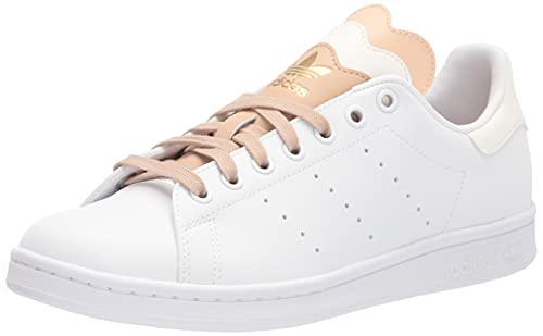 adidas Originals Women's Stan Smith (End Plastic Waste) Sneaker, White/Off White/St Pale Nude, 8