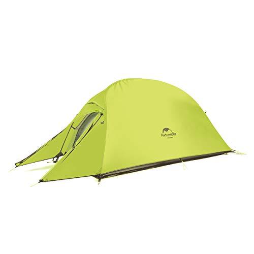 Naturehike Cloud-up Ultraleichte 1 Personen Single Zelt 3-4 Saison Camping Zelt (20D Hellgrün Upgrade)