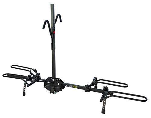"Swagman XTC2 TILT Hitch Mount Bike Rack , Black, 1-1/4"" and 2"" hitch receiver, class 2 or higher"