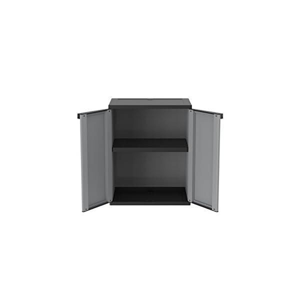 Terry Jline 68 Armario 2 Puertas con 1 Interno. Capacidad máxima del Estante: 20 kg distribuidos de Forma Uniforme, Gris…
