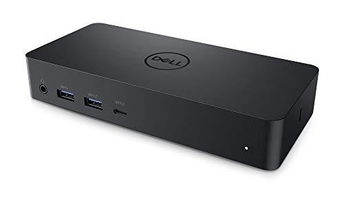 DELL D6000 - Dock Universal con USB 3.0 (3.1 Gen 1), Tipo-C, 10,100,1000 Mbit/s, 3840 x 2160 píxeles, color Negro
