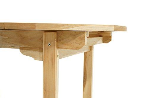 Ploß Ploß Ausziehtisch Louisiana Eco oval 150 cm bis 210 cm - Teakholz-Tisch mit SVLK-Zertifikat - Terrassentisch für 4 bis 8 Personen - Garten-Esstisch Braun - Außenmöbel mit polierter Oberfläche