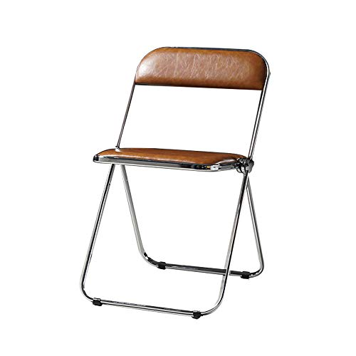 XIAOQIAO Versatile PU Leather Dining Chairs Foldable Living Room Corner Chair, Designed with Ergonomic Backrest, Strong and Durable