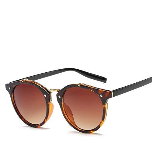whcct Gafas de sol de remache redondas vintage Gafas de sol de mujer Gradiente Gafas de sol de lujo femeninas Elegante