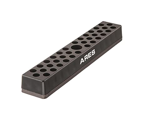 ARES 70080 - 37 Hole Hex Bit Organizer with Strong Magnetic Base - Keep Your Favorite Specialty, Drill, Tamper & Quick Change Bits Conveniently Organized and Accessible