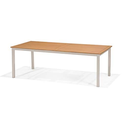 Mesa de Jardín Extensible Chillvert Imperia Madera y Aluminio 214-300x100x74 cm 8-10 Comensales