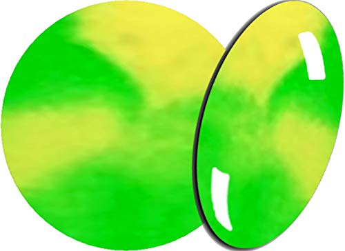 De 2 Färbiges acrylique de poudre 5 g, 2tones-16 Jaune Fluo/Vert Fluo – envyu : # 2T pour la Rapide mais joli Nail Art