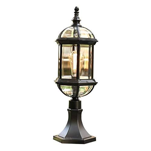 Hammer Lámpara de Pared Retro, Led Columna Faro Impermeable al Aire Libre, lámpara de Pared lámpara de jardín, Pantalla de Cristal, lámpara de Puertas de Calle lámpara de jardín Chalet Imperme