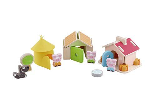 Trudi- Set Costruzioni i 3 Porcellini Construcciones, Multicolor (83062)