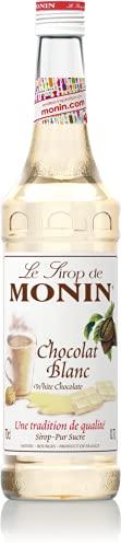 MONIN - Sirop de Chocolat Blanc pour Café, Cappuccino, Latte et Chocolat Chaud - Arômes Naturels - 70cl