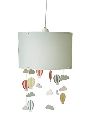 Vertbaudet Lampenschirm zum Aufhängen, Heißluftballons, Wassergrün