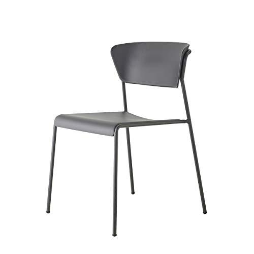 Set 2 sedie lisa tecnopolimero go green SCAB (verniciato antracite scocca antracite)
