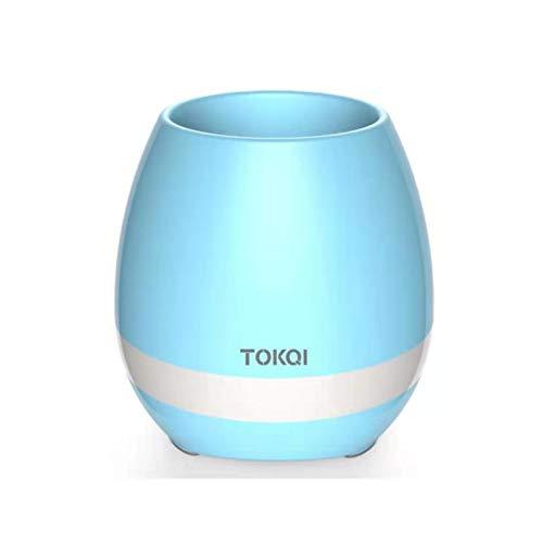 Altavoz Bluetooth portátil inalámbrico, Volumen más Fuerte Sonido de Sonido Rico Rico bajo Sensor de música Maceta, Altavoz Bluetooth para Mesa de Mesa de Mesa de Mesa (Color : Blue)