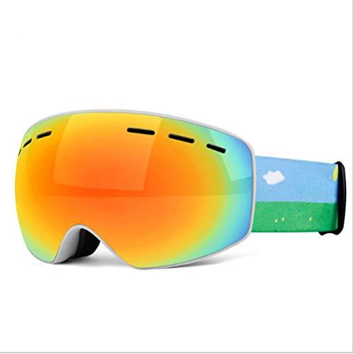 Mouygsd Gafas Snowboard Doble Capa Antiniebla Gafas de esquí Gafas de esquí esféricas Grandes antivaho de Doble Capa para Adultos Equipo de esquí Todo Incluido