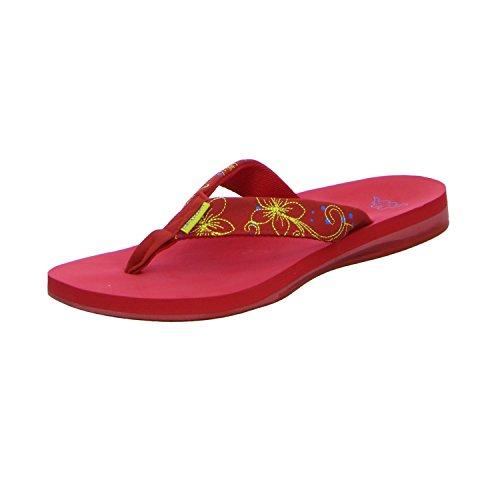 adidas Halulu, Chanclas para Mujer, Rojo (Red/Yellow 2040), 40 EU