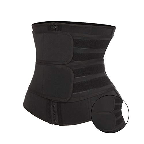 Mujeres Cinturón Entrenador Corsé Adelgazamiento Cuerpo Shaper Control de la Panza Cincher Entrenamiento Cinturón Cinturón Recortador para Pérdida de peso Entrenamiento ( Color : Black , Size : 3XL )