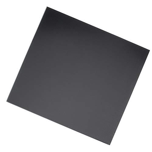 Tomaibaby 3D-Drucker Bauen Oberfläche Beheizte Bettdecke Abnehmbare Wärmekissen Glasplatte 3D-Drucker Zubehör für Shop Ersatz DIY 20X20x0. 4 Cm (Schwarz)