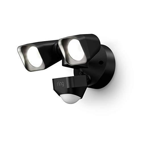 Ring Smart Lighting – Floodlight, Wired, Outdoor Motion-Sensor Security Light, Black (Bridge required)