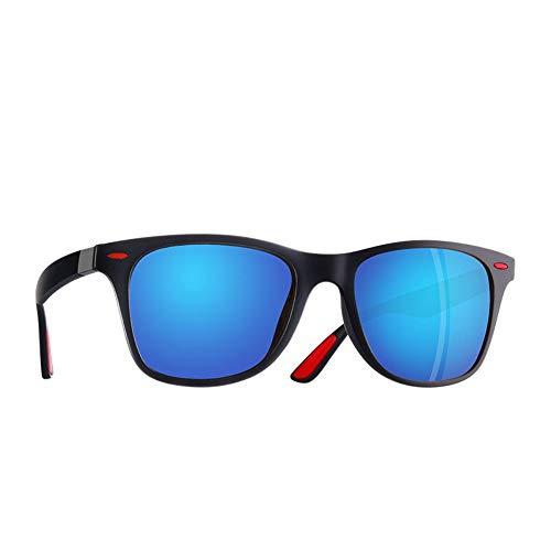 FUZHISI Gafas de Sol Gafas de Sol polarizadas clásicas Hombres Mujeres Que conducen el Marco Cuadrado Gafas de Sol Goggle Masculino UV400, Azul