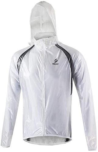 Outdoor fietsjack regenjas, comfortabele lichtgewicht waterproof lange mouwen colbert for mannen ademend kunnen worden opgeslagen veilig fluorescerend groen (kleur: blauw, maat: M), size: medium, kleu