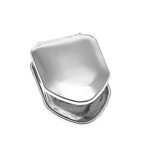 SUPVOX Chapado en plata con un solo diente Gorra Hip Hop Dientes Grill