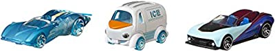 Hot Wheels Disney's Frozen Character Cars 1:64 Scale Elsa Olaf Anna Ages 3 and Up