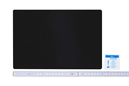 Flickly Anhänger Planen Reparatur Pflaster | in vielen Farben erhältlich | 30cm x 20cm | SELBSTKLEBEND (schwarz)