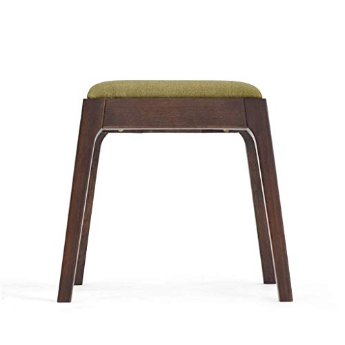 LAOSUNJIA Otomanos Antiguo Roble Materialhome Estilo japonés heces Muebles de jardín sólida Mesa de Madera de Roble de algodón y Lino + (Color : Brown)