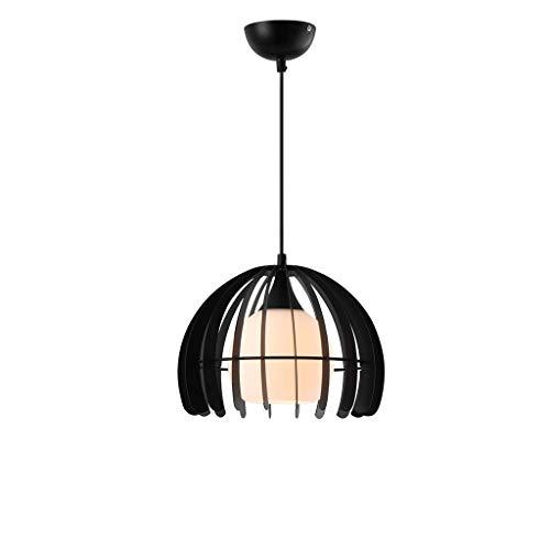 Iron Art hanglamp met één kop, geschikt voor eettafel, bar bank, Iron Art, kleine kroonluchter (kleur: wit)