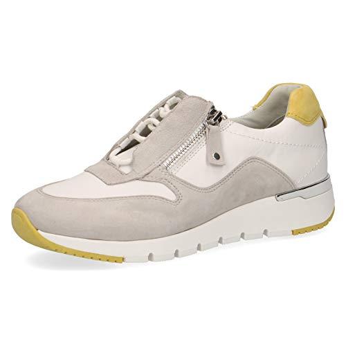 CAPRICE Sneaker Sportschuh Schnürschuh Damen Weiß Neu Größe 36 EU Weiß (weiß-bunt-kombiniert)