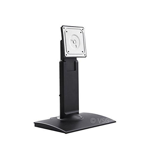 VSG 92002 Halterung für Touchscreens POS oder PC Monitore – Flexibler Display Ständer, Neig- & schwenkbar, VESA, Metall, 10 bis 22 Zoll - Schwarz