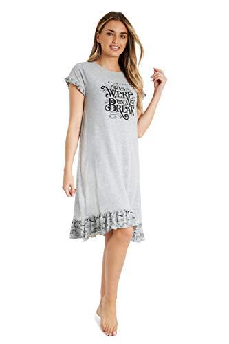 FRIENDS Pijamas Mujer, Camison Mujer Verano, Vestido Manga Corta, Ropa Mujer Algodon Suave, Merchandising Oficial Regalos Mujer y Chica Adolescente Talla S-XL (L)
