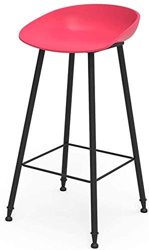 DFJKE Taburete de Bar Asiento de diseño ergonómico Estructura de Hierro Forjado Apto para Silla de Comedor.