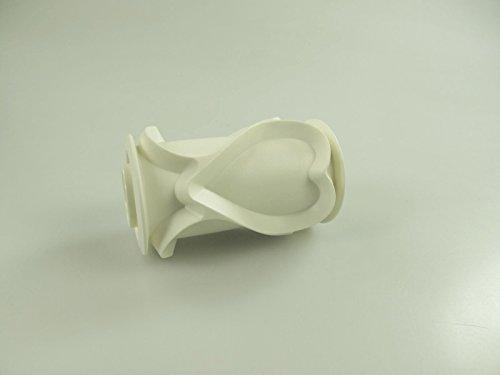 TUPPERWARE Rodillo rollo con el modelo del corazón blanco