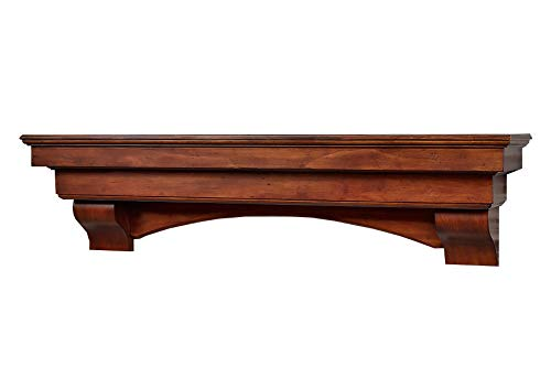 Salem 60 inch Fireplace Mantel Shelf - Aged Cherry